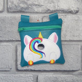 DIGITAL DOWNLOAD 5x5 ITH Unicorn Poo Zipper Bag Lined and Unlined Charm