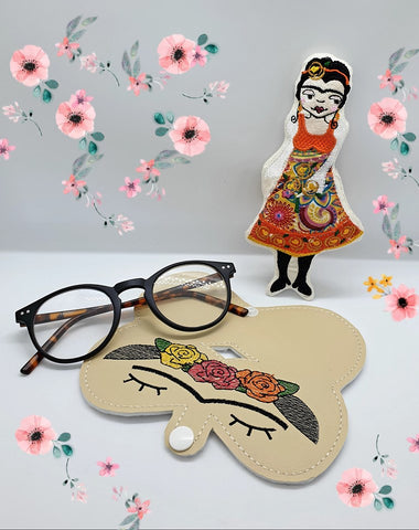 DIGITAL DOWNLOAD Floral Woman Sunglasses Glasses Case 4 Options