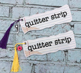 5x7 DIGITAL DOWNLOAD Quitter Strip Bookmark 2 Sizes Quit