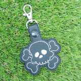 4x4 DIGITAL DOWNLOAD Skull and Crossbones Snap Tab