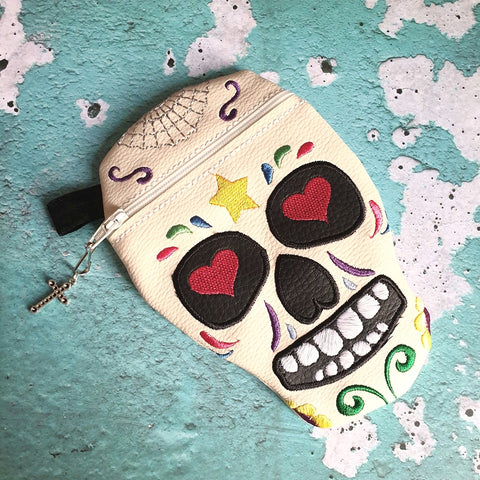 DIGITAL DOWNLOAD Sugar Skull Zippered Bag