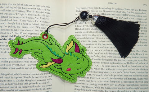 4x4 DIGITAL DOWNLOAD Dragon Whimsy Bookmark