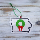 DIGITAL DOWNLOAD 4x4 Iowa State Holiday Ornament