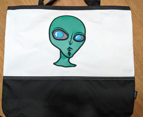 DIGITAL DOWNLOAD 5 Sizes Area 51 Alien Applique Design