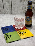 DIGITAL DOWNLOAD 4x4 Periodically Drunk Coaster Set
