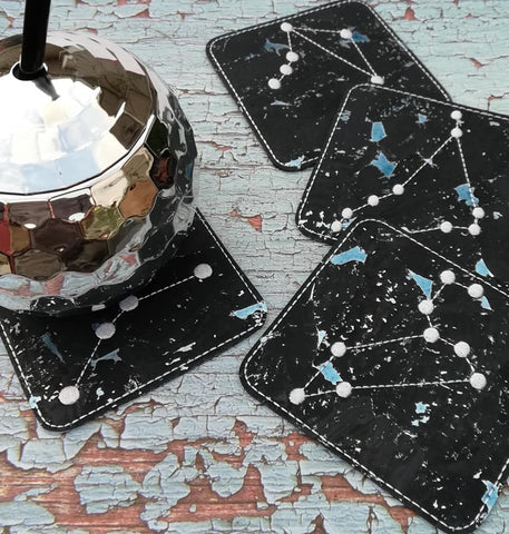 DIGITAL DOWNLOAD 4x4 Zodiac Constellation Coaster Set of 12