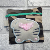 DIGITAL DOWNLOAD 5x5 ITH Kitty Poo Zipper Bag Lined and Unlined Poo Charm