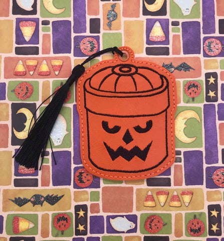4x4 DIGITAL DOWNLOAD Trick or Treat Pumpkin Bucket Bookmark Ornament