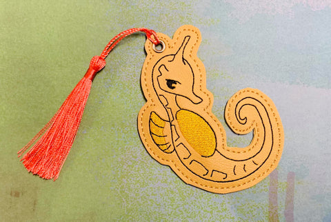 4x4 DIGITAL DOWNLOAD Seahorse Bookmark Fruits Basket