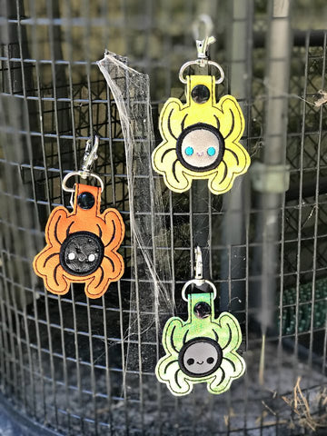 4x4 DIGITAL DOWNLOAD Applique Spider Snap Tab