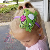 4x4 DIGITAL DOWNLOAD Zombie Kittay Headband Slider
