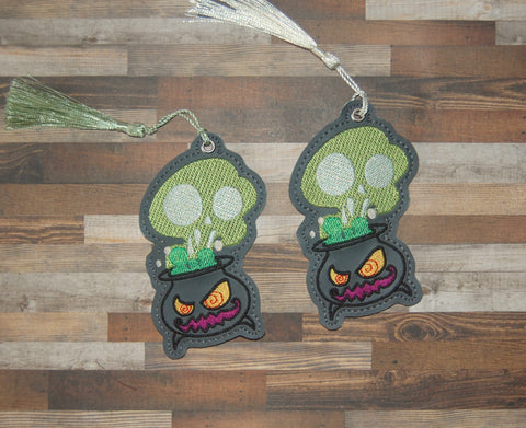4x4 DIGITAL DOWNLOAD Creepy Cauldron Bookmark BEAN and SATIN versions included