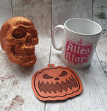 DIGITAL DOWNLOAD 4x4 Jack O Lantern Coaster