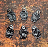 4x4 DIGITAL DOWNLOAD Skull Coffin Zipper Pull Charm Single and Multi