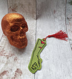 4x4 DIGITAL DOWNLOAD Zombie Arm Bookmark Ornament Hanger
