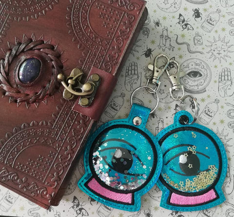 4x4 DIGITAL DOWNLOAD Applique Mystical Crystal Ball Eyelet and Snap Tab Set