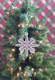 DIGITAL DOWNLOAD Vintage Scissors Snowflake Ornament 4x4