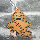 4x4 DIGITAL DOWNLOAD Zombie Gingerbread Hanger Bookmark Ornament