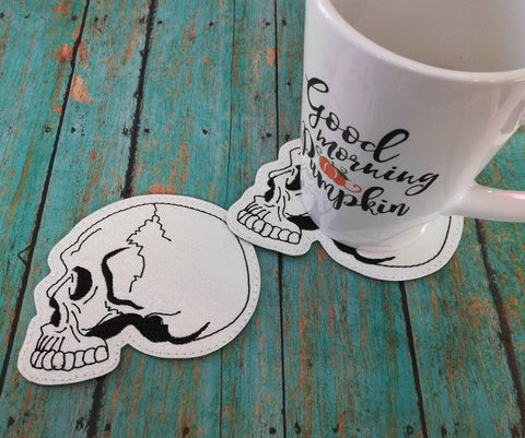 4x4 DIGITAL DOWNLOAD Anatomical Skull Coaster