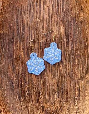 DIGITAL DOWNLOAD 4x4 5x7 Snowflake Earrings 1 Inch