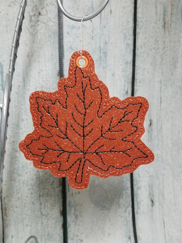 4x4 DIGITAL DOWNLOAD Maple Leaf Ornament Bookmark Hanger