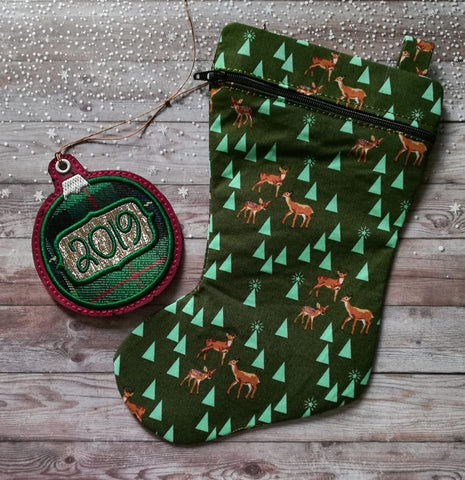 DIGITAL DOWNLOAD ITH Stocking Zipper Bag Lined and Unlined Versions