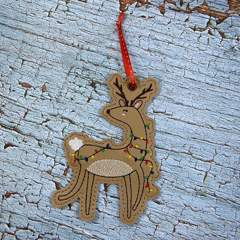 DIGITAL DOWNLOAD Reindeer Ornament 4x4