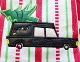 4x4 and Up DIGITAL DOWNLOAD 6 Sizes Holiday Hearse Applique Design