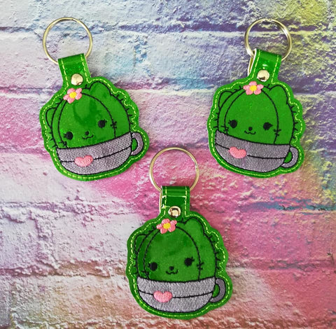 4x4 DIGITAL DOWNLOAD Girl Kitty Cactus Snap Tab