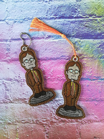4x4 DIGITAL DOWNLOAD Wobble Head Dwight Bookmark Ornament