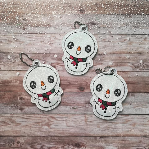 4x4 DIGITAL DOWNLOAD Chibi Snowman Ornament