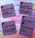 DIGITAL DOWNLOAD 4x4 The Polite Coaster Set of 5