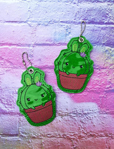 4x4 DIGITAL DOWNLOAD Bunny Cactus Bookmark Ornament
