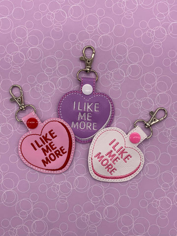 4x4 DIGITAL DOWNLOAD I Like Me More Conversation Heart Cookie and Candy Snap Tab Set Applique