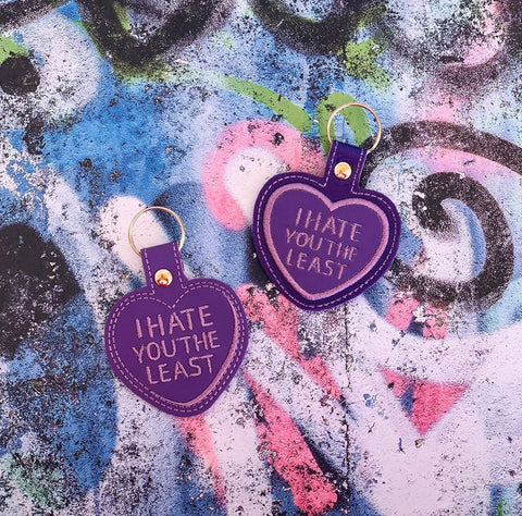 4x4 DIGITAL DOWNLOAD I Hate You Least Conversation Heart Cookie and Candy Snap Tab Set Applique