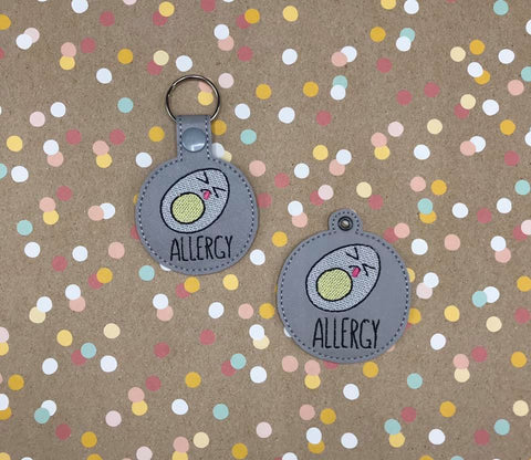 DIGITAL DOWNLOAD 4x4 Egg Allergy Eyelet and Snap Tab Set