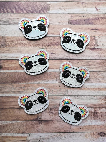DIGITAL DOWNLOAD Rainbow Panda Feltie