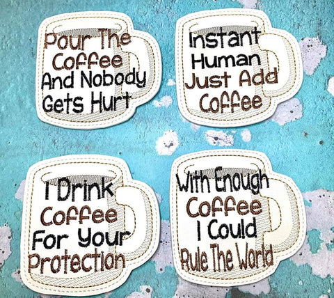 DIGITAL DOWNLOAD 4x4 Coffee Cup Coaster Set