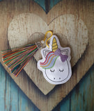 4x4 DIGITAL DOWNLOAD Rainbow Unicorn Bookmark