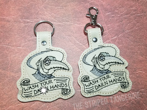 4x4 DIGITAL DOWNLOAD Plague Doctor Wash Your Hands Snap Tab Set 2 Versions Included