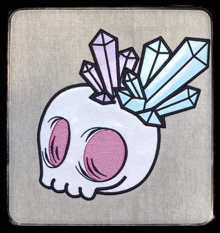 DIGITAL DOWNLOAD Applique Crystal Skull Set 5 Sizes