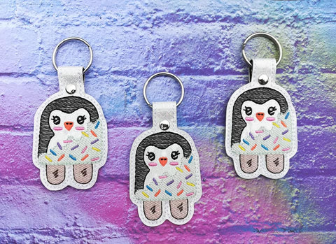 4x4 DIGITAL DOWNLOAD Polar Penguin Popsicle Snap Tab