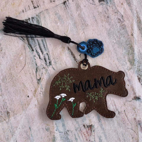 DIGITAL DOWNLOAD Mama Bear Bookmark and Charm Set
