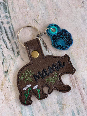DIGITAL DOWNLOAD Mama Bear Snap Tab and Charm Set