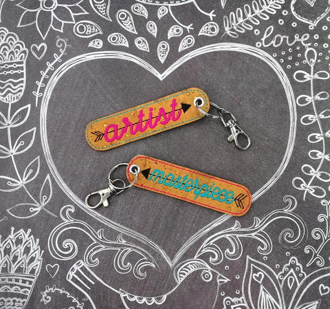 DIGITAL DOWNLOAD Artist and Masterpiece Eyelet Keychain Set