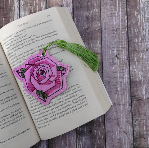 DIGITAL DOWNLOAD Geometric Rose Bookmark