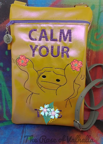 DIGITAL DOWNLOAD Calm Your Tatas Zipper Bag Lined and Unlined