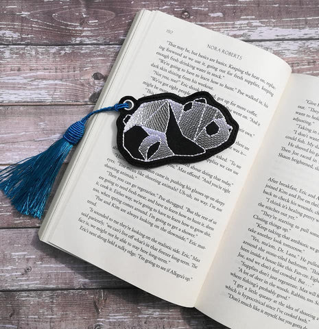 DIGITAL DOWNLOAD Geometric Panda Bookmark