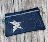 DIGITAL DOWNLOAD Stargazer Clutch Applique Zipper Bag Lined and Unlined