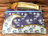 DIGITAL DOWNLOAD Wendy Clutch Applique Zippered Bag Lined and Unlined